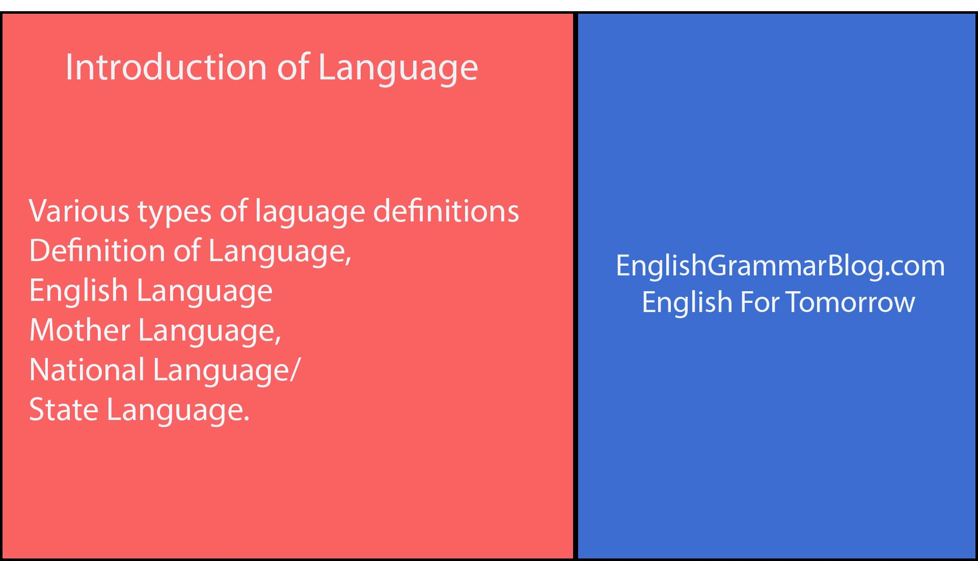 Introduction of Language